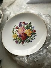 "Royal Worcester Early Cabinet Plate 9.5"" Roses  Plate Signed Charles Summers"