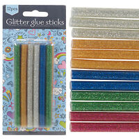 Mini Glitter Hot Glue Gun Sticks Melt Cartridges Art Assorted Bond Colours 7mm