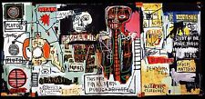 STAMPA SU TELA CANVAS JEAN MICHEL BASQUIAT NOTARY 90X45 POP ART
