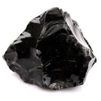 Rough Natural Black Obsidian Tumbled Raw Healing Crystal Stone Mineral Specimen