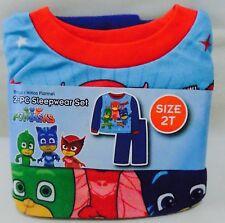 PJ Masks 2 Piece Flannel Sleepwear Pajamas Toddler Boy's 2T Catboy Gecko Owlette