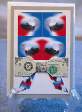 Origami Folded Dollar Bow Tie Handcrafted Thank You Card, Armed Service Member