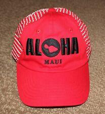 ALOHA MAUI HAWAII Hat Cap Red