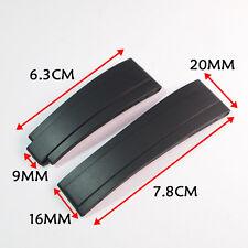 20mm Waterproof Black Rubber Strap for Rolex116655 Oysterflex watchbands