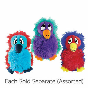 KONG DoDo Quirky Assorted Dog Plush Toy Medium SQUEAKS Soft Colorful NEW Crazy