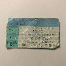 Zz Top Freedom Hall Louisville Kentucky Concert Ticket Stub Vintage October 1994