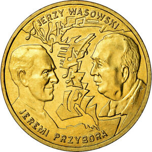 [#880216] Coin, Poland, 2 Zlote, 2011, Warsaw, MS(60-62), Brass, KM:801