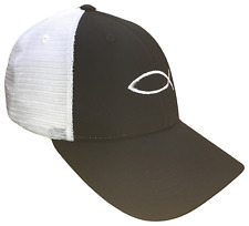 Black & White Jesus Fish Mesh Golf Cap Hat Caps Religious Hats God Christian