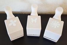 MARTHA STEWART Lot of 3 Paper Punch HYDRANGEA COSMOS Flower MONARCH Butterfly
