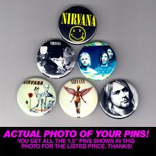 "NIRVANA - 1.5"" PINS / BUTTONS (poster badge lp kurt cobain grunge dave grohl )"