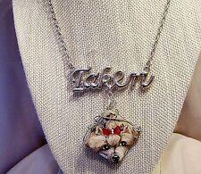 Yorkie hand painted silvertone Jasper pendant necklace earring set