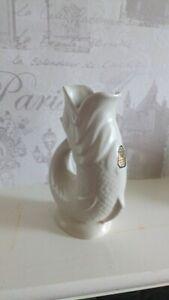 Dartmouth Pottery Gurgle Jug Fish Cream Off White Vintage Retro