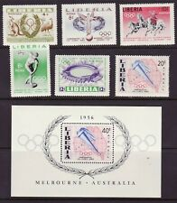 Liberia # 358-61 C104-06 MNH Complete 1956 Olympics Issue