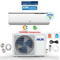 AUX 12000BTU Ductless Air Conditioner Heat Pump MINI Split 115V WiFi 17SEER 12ft