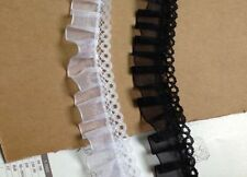 Lovely ruffled lace trim  = selling by the yard /select color/