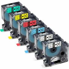 6PK 45010 45013 45016 45017 45018 45019 Equivalent Dymo Label Tapes Combo Set