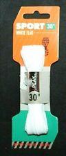 "Peak Sport 30""  White Flat Sport Laces One Pair"