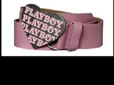 PLAYBOY Heart Buckle Pink Belt New