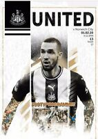 NEWCASTLE UNITED v NORWICH 2020 Premier League Programme Free UK Postage