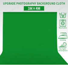 3*4M Photography Background Green Cotton Chromakey Screen Muslin Backdrop Studio