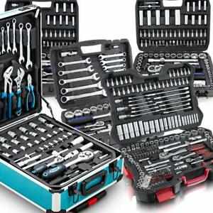 BITUXX XXL Werkzeugkoffer Sets Steckschlüssel Bit Nuss Knarrenkasten Bestückt