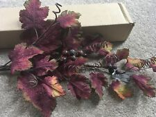 Home Interiors HOMCO NEW Autumn Leaf & Berries Swag Floral Decor Greenery Fall