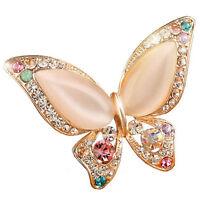 1x Broche Diamantes de imitación ópalo para boda Broche de mariposa Mujer Regalo