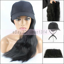 "Women's 20"" Long Hair with Baseball Cap Funny Ball Hat 2 Parts Removable New HOT"