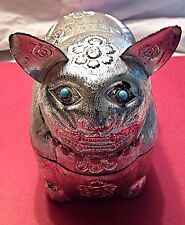 Saks of Fifth Avenue Cat God Ancient Egyptian Metal Italian Handbag, ca.1962