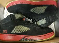 Air Jordan AJF 5 Authentic Black Varsity Red White Pre-Owned Size 12 2008 Fusion