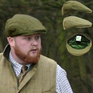 ALL WOOL FLAT CAP WITH EXTENDED PEAK WITH TEFLON COATING