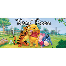 Winnie The Pooh Personalised Bedroom Door Sign  - Any Text/Name (5)