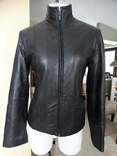MIDTOWN FILLED LEATHER JACKET SMALL