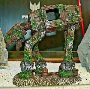 "Space Dog ""Star Wars Style AT AT"" 14x15x8.5cm Aquarium Fish Tank Ornament"