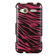 For HTC Radar 4G T-Mobile HARD Protector Case Snap on Phone Cover Plum Zebra