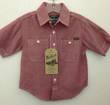 Woolrich Boys Chambray Collared Shirt Size 4T~New with Tags~Cotton