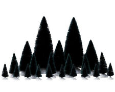 Lemax Set of 21 Assorted Fir Trees Model Railways Villages Wargames Forest