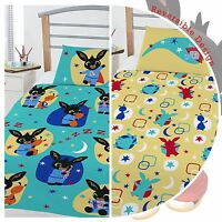 BING BUNNY JUNIOR TODDLER DUVET COVER SET KIDS BOYS BEDDING - 2 DESIGNS IN 1