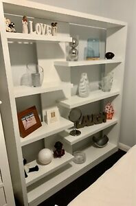 Beautiful White shelving/bookcase from OZ Design, needs a new home!