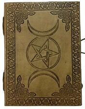 "Book of Shadows Paper Journal Pentacle Triple Moon 5"" X 7"" Inchs Handmade"