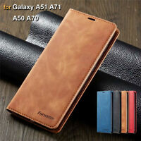 Leather Case for Samsung Note 20 S21 Ultra A21 A51 A71 Magnetic Flip Wallet Skin