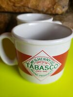 2 Tabasco Brand McILhenny Co. Coffee*Soup*Mugs 14oz
