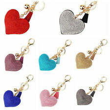 Heart Crystal Rhinestone Pendant Handbag Charm Keychain Bag Keyring Key Chain hs