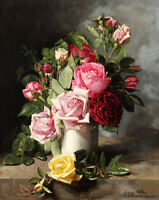 Wall art Still life Roses flowers oil painting HD printed on canvas L1661