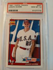 1991 Topps Traded, Jason Giambi #45T Rookie Card, PSA GEM MT 10