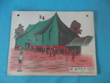 Ancienne Affiche scolaire Remi et Colette les pommes le cirque chapiteau