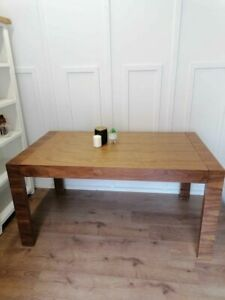 Large wooden dining extending tables walnut Dwell