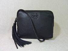 NWT Tory Burch Black Pebbled Leather Taylor Camera Cross Body Bag $350