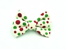 Christmas Polka Dot Handcrafted Dog/Cat Collar Bow Tie
