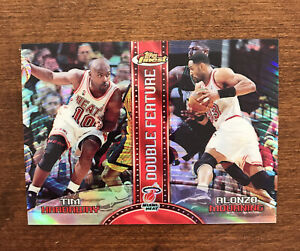 Tim Hardaway Alonzo Mourning 1999-00 Topps Finest Refractor Double Feature Heat